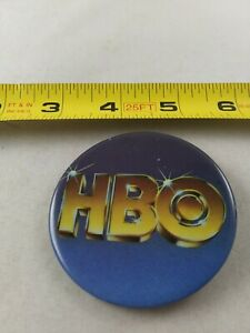 Vintage HBO Cable Television pin button pinback *EE77
