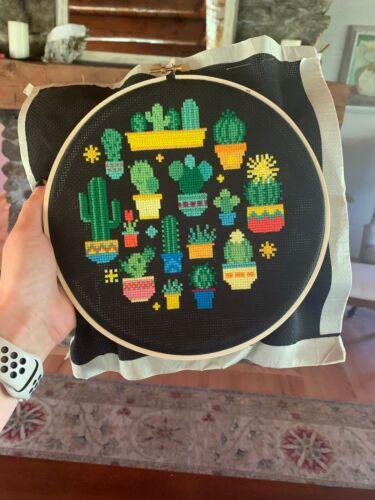 Modern Sampler Counted Cross Stitch Kits Cactus Cross Stitch Kit Beginner
