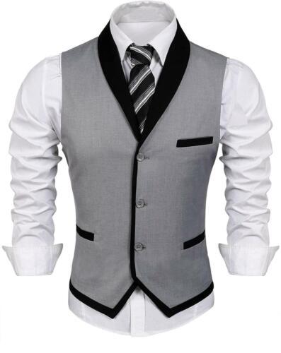 COOFANDY Men/'s Suit Vest Slim Fit Business Wedding Vests Dress Waistcoat