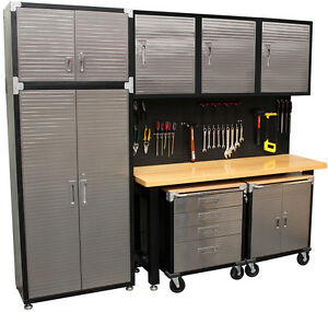 Image Is Loading Seville 9 Piece Garage Storage System With Workbench