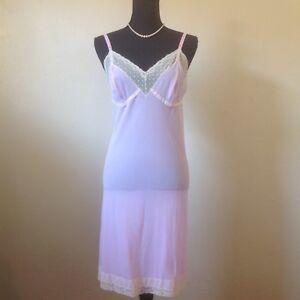 141b59ae8 Image is loading Vintage-1960s-Hollywood-Vasserette-Slip-Nightgown-Lingerie -Loungewear-