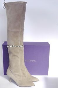 f0f48e96e17 New Stuart Weitzman Suede TIEMODEL Over the Knee Boot  899~Taupe ...