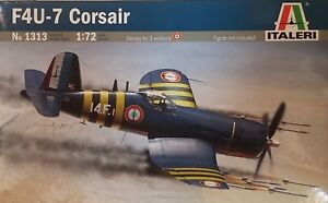 ITALERI-1-72-KIT-AEREO-F4U-7-CORSAIR-14-CM-CON-DECALS-PER-3-VERSIONI-ART-1313