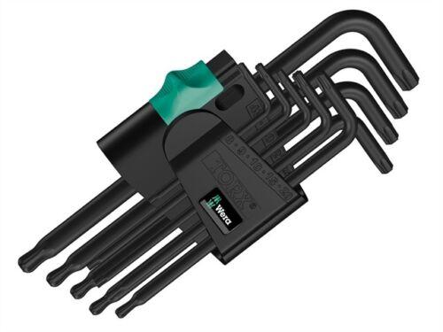 Wera wer073598 Hex Key Set 9pc Ballpoint Torx Black