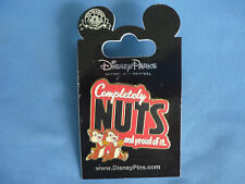 CHIP & DALE Disney Pin COMPLETELY NUTS  and  PROUD OF IT    New on Card