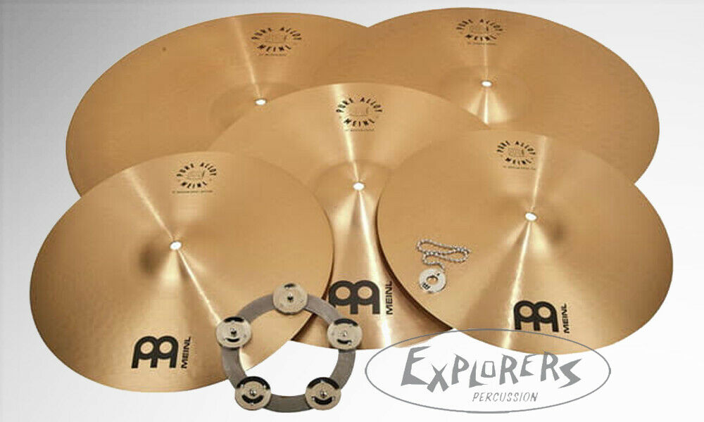 Meinl Pure Alloy 5 Piece Cymbal Set w  FREE 20  Medium Crash, Bacon &  ng Ring