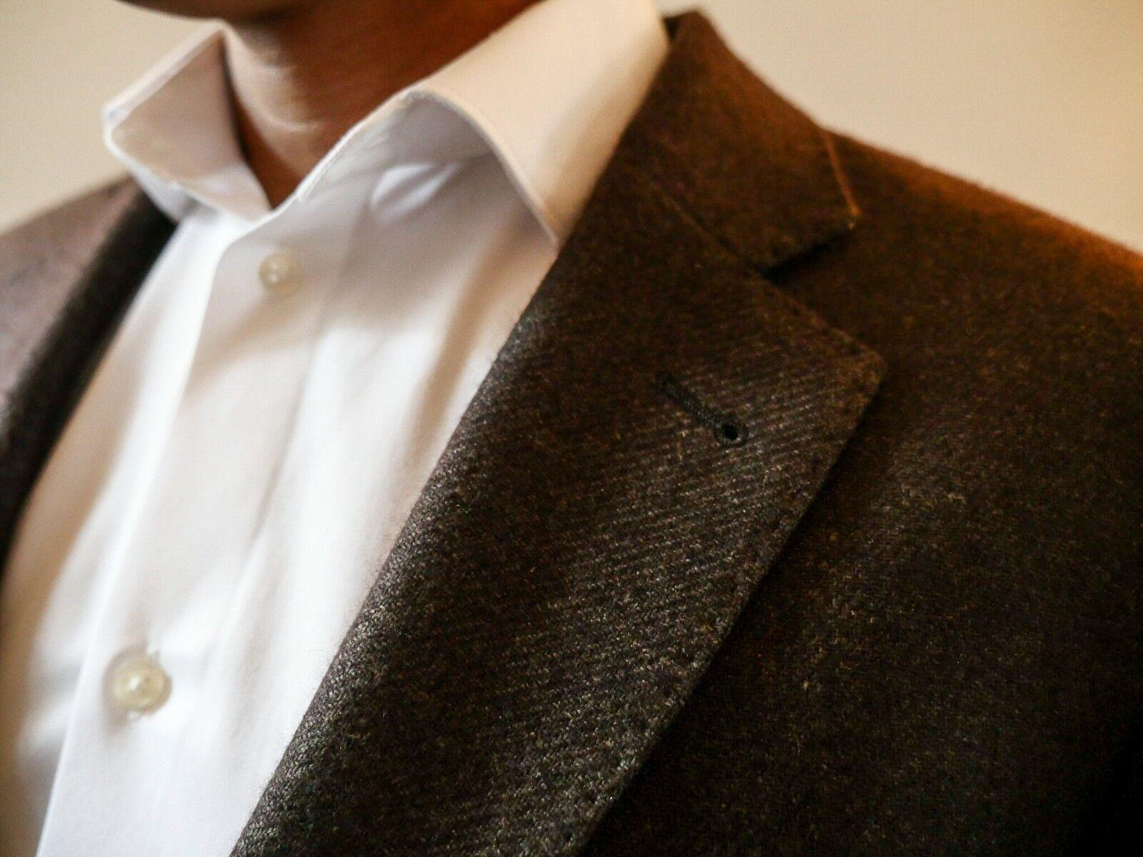 Brauner Sakko Material in Italien angefertigt 51% Hanf 49% Kaschmir Größe 54   | Gute Qualität  | Sale Outlet  | Neuheit