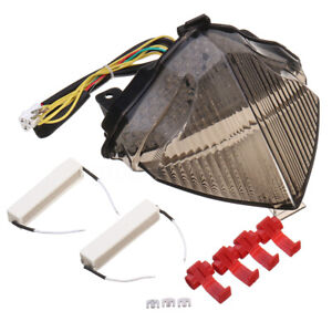 Tail-Brake-Turn-Signal-integrated-lumiere-DEL-fumee-Lentille-Pour-Yamaha-YZF-R1-YZF-R1