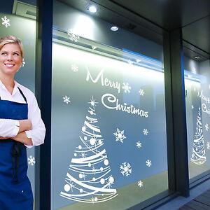 Buon-Natale-Albero-Natale-Fiocchi-di-neve-Visualizzazione-Finestra-amp-Adesivi-Murali-Adesivi-a294