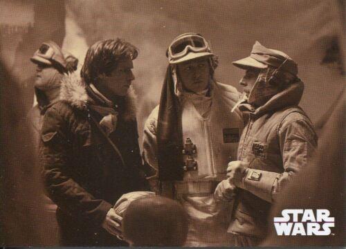 Star Wars ESB Black /& White Sepia Base Card #6 Commander Skywalker/'s Absence