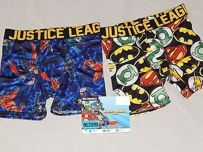 NEW Justice League movie Compression 2 Pair Boxer Briefs BOYS Underwear Size S M