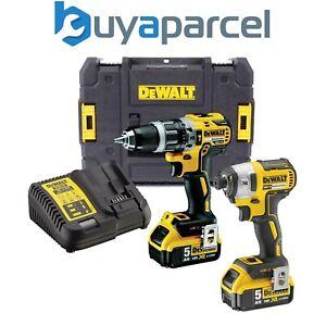 Dewalt-DCK266P2T-18v-Brushless-DCD796-Combi-Drill-DCF887-Impact-Driver-2-x-5-0ah