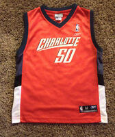 Charlotte Bobcats Emeka Okafor basketball jersey boy MEDIUM  10 - 12 Reebok #50