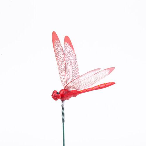 10Pcs Dragonfly Garden Stakes Artificial 3D Yard Plant Flower Pot Lawan Decor