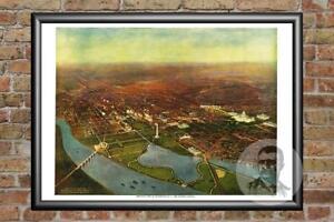 Vintage-Washington-DC-Map-1916-Historic-D-C-Art-Old-Victorian-Industrial