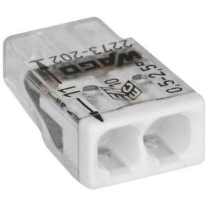 10 Stück Steckklemme 2-polig COMPACT Wago