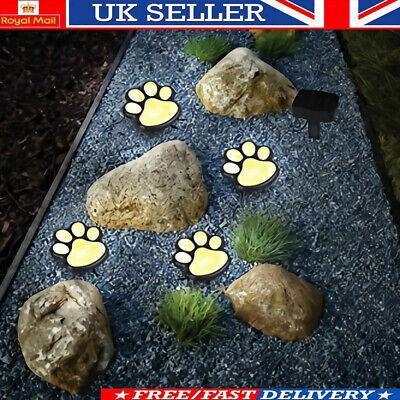 8 Solare Cane Gatto Animale Paw Print Luci A Led Lampada Per Vialetto Da Giardino Per Esterni Vialetto- Impermeabile, Resistente Agli Urti E Antimagnetico