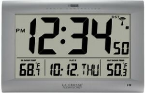 Large Digital Wall Clock Clocks Outdoor Temperature Wireless