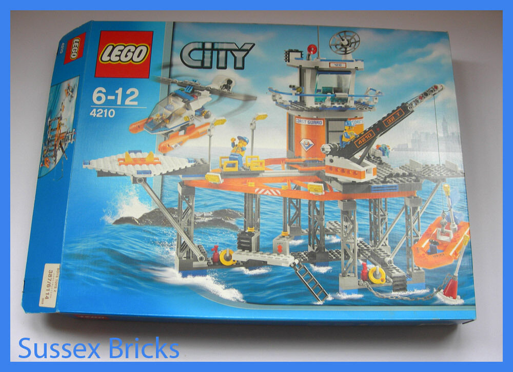 Lego City Town - 4210 - Coast Guard Platform - Complete Boxed VGC