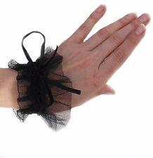 Stulpen Fingerlos Handschuhe oder Kragen Tüll Spitze Gothic Kei Barock Schwarz