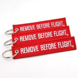 REMOVE BEFORE FLIGHT KEYCHAIN - RED white QTY  3 TAGS - FLAG PILOT ... 6b15be2c06