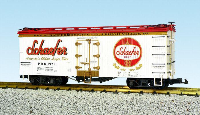 USA Trains G Escala nos hierba coche R16434 Schaefer Beer – blancoo Rojo