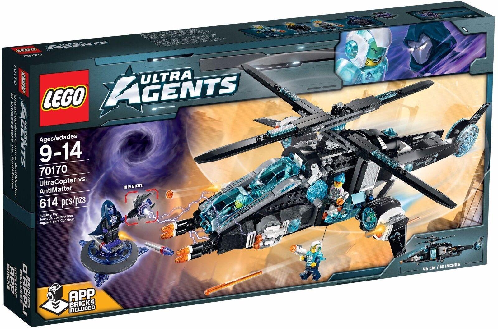 LEGO Ultra Agents Ultracopter vs Antimatter ( 70170)(RetiROT 2015)(Rare)(NEW)