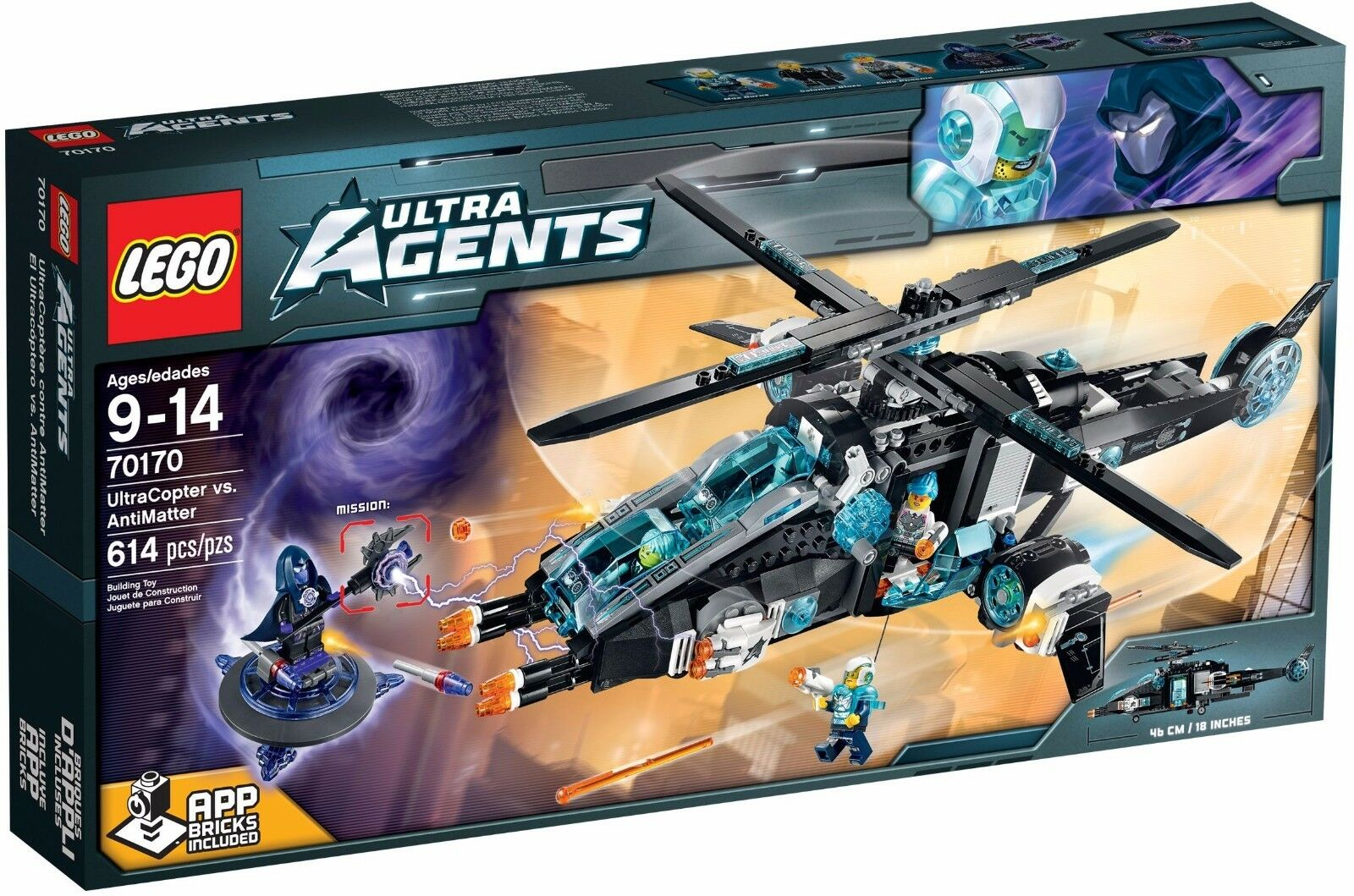 Lego Ultra Agents Ultracopter mot Antimateria ()(pensionerad 2015)(Sällsynt)(NY)