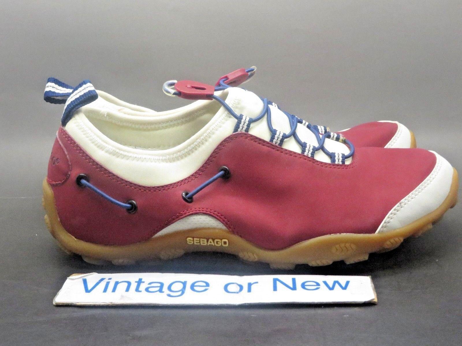 Women's Sebago Wave Walker Red Slip On Walking shoes sz 7 M