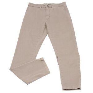 0484k Pantalone Uomo Siviglia Denim Core Beige Garment Dyed Jeans Trouser Man