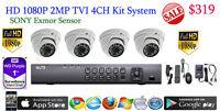 Hd Tvi 4ch Dvr Lts Ltd8304t-ft +1tb Wd Hd +4x Sony Exmor 2mp Dome Cameras Hdtvi