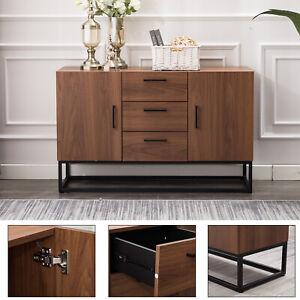 Details about Sideboard Storage Cabinet Modern Buffet Table Kitchen Storage  with Three Storage