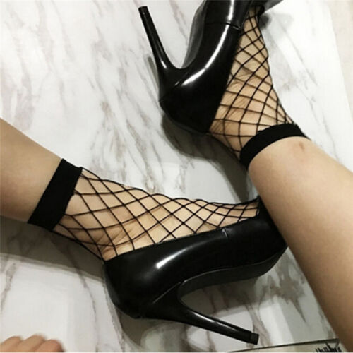 1 Pair Women Lady Lace Ruffle Fishnet Short Ankle Socks Stockings Mesh CP