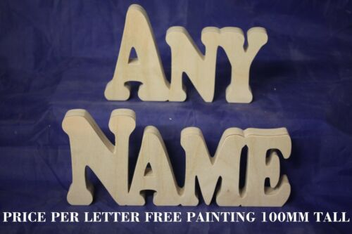 Wooden Name Personalised Freestanding Wedding Home Gift Decoration Free Painting