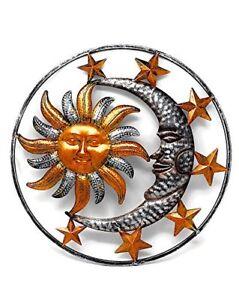 Details About Large Metal Sun Moon Star Wall Art Sculpture Decor Indoor Outdoor 17 Diameter