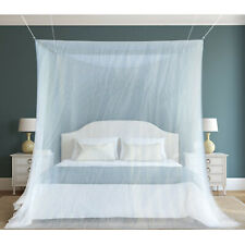 WHITE MOSQUITO NET BED COVER CANOPY FLY UPTO KING SIZE HOLIDAY CAMPING