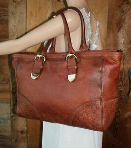 18fbc599348e Gucci XL Tote Guccissima Gg Supreme Handbag Leather Brown mahogany ...