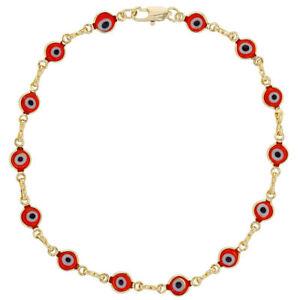 """Anklets Jewelry & Watches Punctual Tobillera De Ojo La Buena Suerte 10"""" Largo Color Rojo Para 25.4cm"""