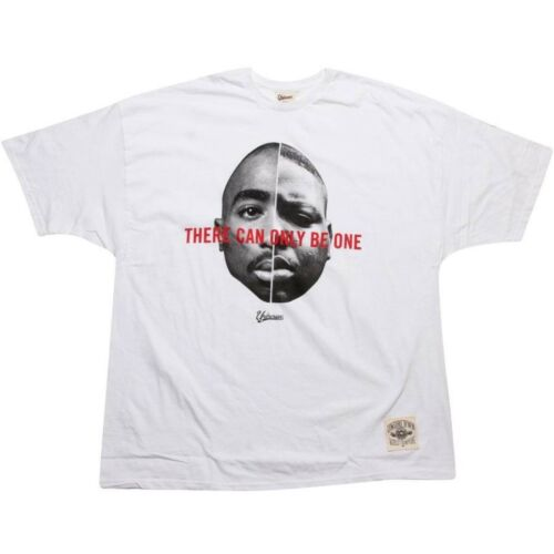 $39.99 Under Crown There Can Only Be One  BIGGIE SMALLS TUPAC Tee 09049W white