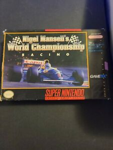 Nigel Mansell's World Championship Racing SNES *COMPLETE* Still in wrapping