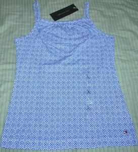 AUTHENTIC-TOMMY-HILFIGER-GIRLS-CAMISOLE-BLUE-WHITE-Large-12-14