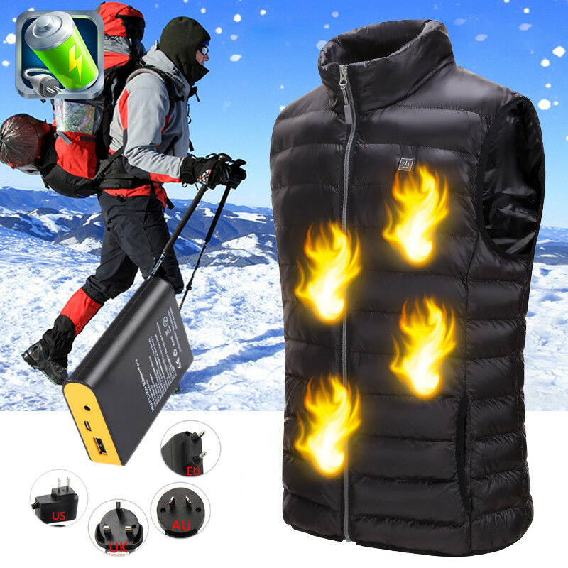 Harmfulless Infrared heating electric vest 3 speed temperature control cycling