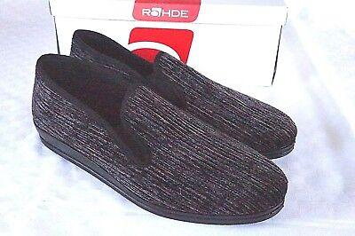 Affidabile Rohde Pantofole Kord Marrone Chiaro Nero Uomo Leggero Tg 46 2606 Leggermente-mostra Il Titolo Originale