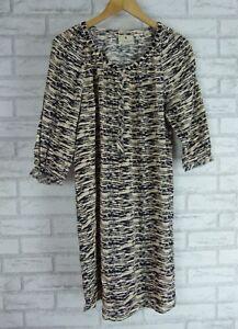 MAISON-SCOTCH-Dress-Sz-2-Beige-Black-print