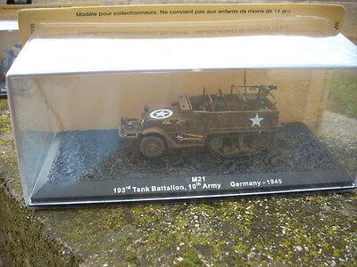 "DIE CAST TANK /""M21 193rdTANK BATTALION 10th GERMANY 1945/"" 1//72 box 73"