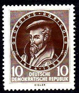 497 postfrisch DDR Briefmarke Stamp East Germany GDR Year Jahrgang 1955