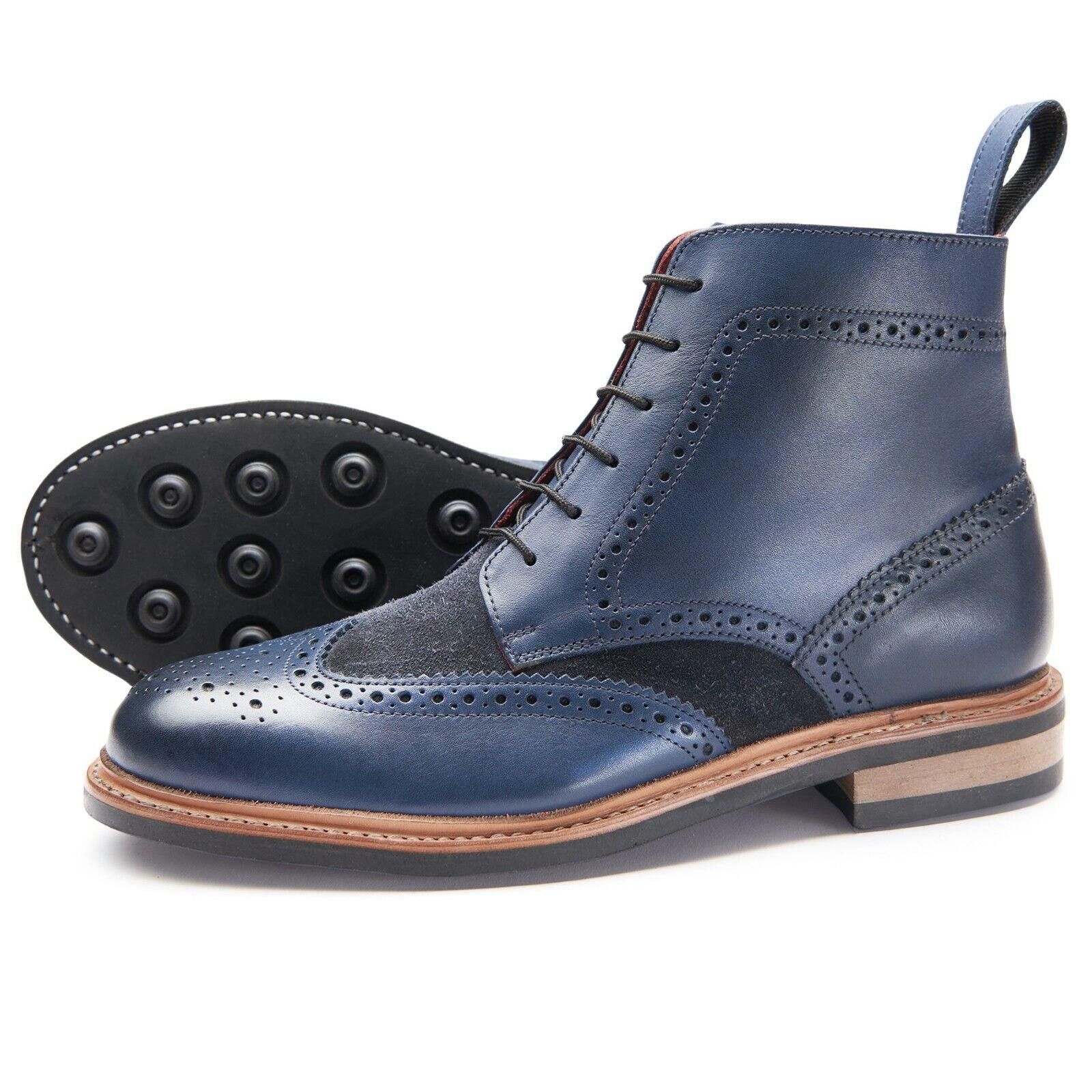 Samuel Windsor, botas masculinas, prestigio naval, cinturones de cuero rurales, talla inglesa 5 - 14.