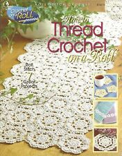 How to Thread Crochet on a Roll Patterns Doily Coasters Runner Edging Attic NEW