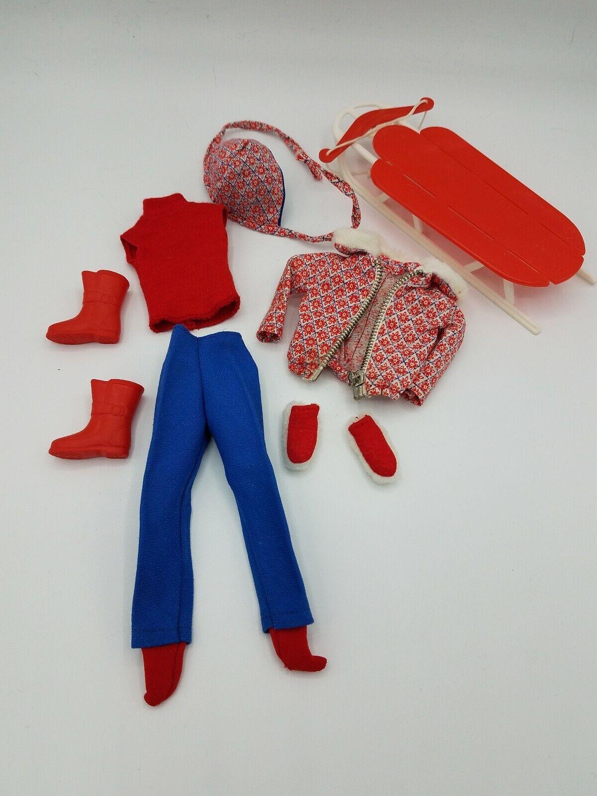Skipper Doll Clothes Sledding Fun  1936 Vintage Complete set 1960s rare
