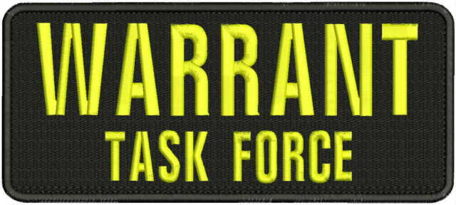 task force embroidery patch 3x10 and 2x5 hook on back